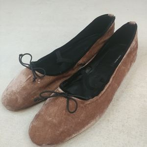 Zara Basic Collection Women Ballet Soft Brown velo